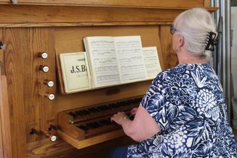 Tracker organ built by an Oberlin class-mate, Charles Ruggles 1987